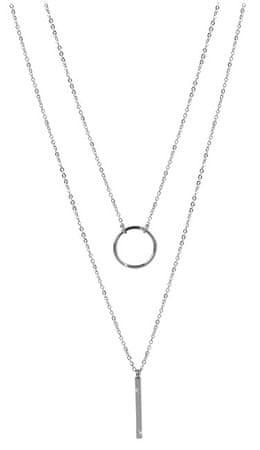 Troli Dupla nyaklánc stílusos acél medálokkal