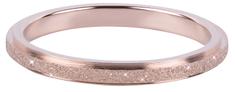 Troli Bronzový oceľový trblietavý prsteň