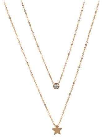 Troli Dupla arany nyaklánc aranyozott acélból