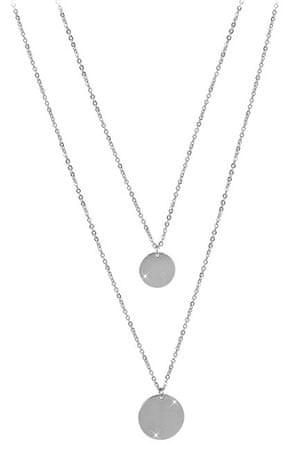Troli Dvojitý náhrdelník s kruhovými přívěsky z oceli