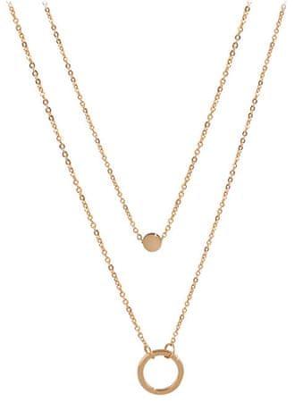 Troli Dvojna ogrlica s pozlačenimi obeski iz obroča