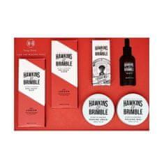 Hawkins & Brimble Arcápoló ajándékcsomag férfiaknakelemi és ginzeng illattal 6 db