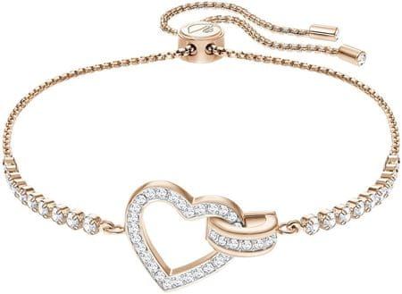 Swarovski Stílusos karkötő szívvel LOVELY 5368541