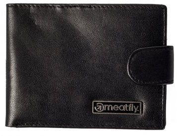 MEATFLY Męski portfel skórzany Riker A- Black