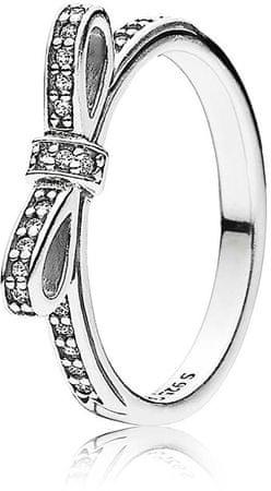 Pandora Csillogó gyűrű masnival190906CZ (áramkör 54 mm-es) ezüst 925/1000