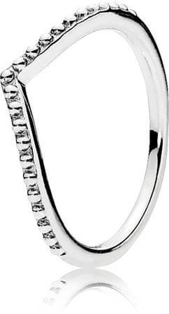 Pandora Ezüst gyűrű gyöngyökkel díszítve 196315 (áramkör 58 mm) ezüst 925/1000