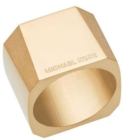 Michael Kors Masivní pozlacený prsten MKJ5832710 (Obvod 56 mm)
