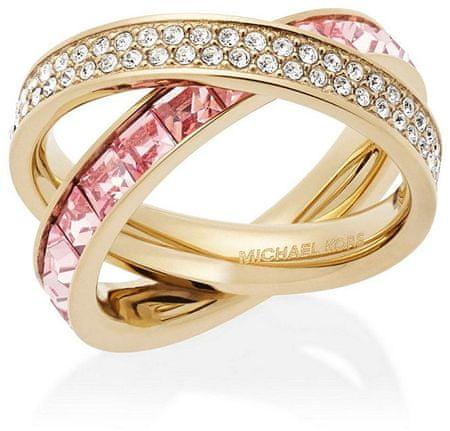 Michael Kors Dupla aranyozott gyűrű kristályokkal MKJ5419710 (Kerület 54 mm-es)