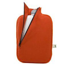 Hugo Frosch Termofor Eco Classic Comfort se softshellovým obalem na zip – oranžový