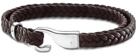 Lotus Style Barna színű bőr karkötő LS1880-2/2
