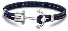Lotus Style Ciemnoniebieska skórzana bransoletka z kotwicą LS1881-2 / 5