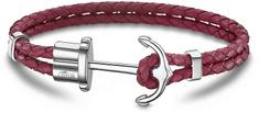 Lotus Style Červený kožený náramek s kotvou LS1881-2/2