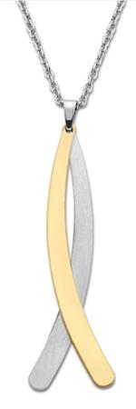 Lotus Style Modny dwukolorowy naszyjnik LS1893-1 / 2