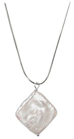 JwL Luxury Pearls Srebrna ogrlica s pravim biserom JL0392 (veriga, obesek) srebro 925/1000