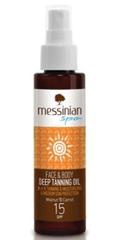 Messinian Spa Opaľovací olej na tvár a telo SPF 15 100 ml