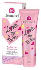 Dermacol Zklidňující a sjednocující krém pro mladou pleť s vůní hrušky a melounu Love My Face (Soothing Cream