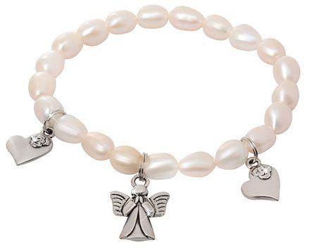 JwL Luxury Pearls Fina zapestnica iz pravih biserov z obeski JL0419
