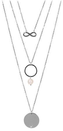 JwL Luxury Pearls Több réteges nyaklánc igazgyönggyel JL0420