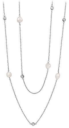 JwL Luxury Pearls Dolga ogrlica iz pravih biserov in kristalov JL0424