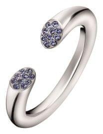 Calvin Klein Otvorený oceľový prsteň s kryštálmi Brilliant KJ8YMR0402 (Obvod 52 mm)