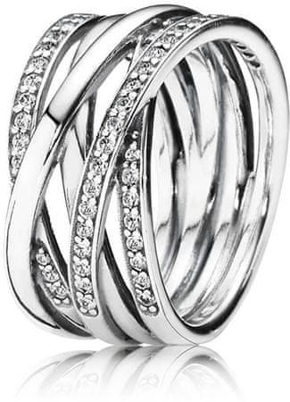 Pandora Ezüst összefonódott gyűrű 190919CZ (áramkör 52 mm) ezüst 925/1000