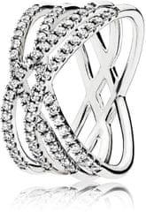 Pandora Bleščeče srebrni prstan 196401CZ srebro 925/1000