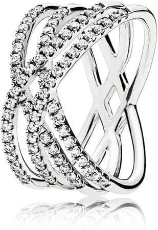 Pandora Káprázatos ezüst gyűrű 196401CZ (áramkör 52 mm) ezüst 925/1000
