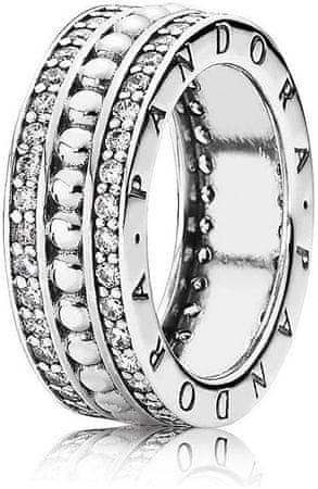 Pandora Ezüst gyűrű kövekkel díszítve190962CZ (áramkör 50 mm-es) ezüst 925/1000