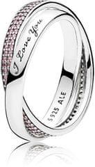 Pandora Ezüst gyűrű szeretett hölgynek 196546PCZ ezüst 925/1000