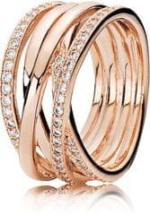 Pandora Bronast prepleteni prstan 180919CZ srebro 925/1000