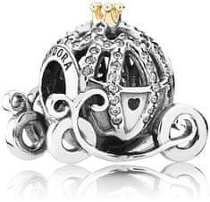 Pandora Koralik srebrny brokatowy Disney Cinderella Pumpkin Carriage 791573CZ srebro 925/1000