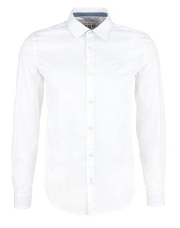 s.Oliver Pánská košile 03.899.21.4533.0100 White (Velikost L)