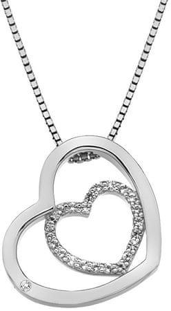 Hot Diamonds Ezüst szív nyaklánc Adorable Encased DP691 ezüst 925/1000