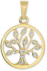 Brilio Zlatý přívěsek Strom života s krystaly 249 001 00442 zlato žluté 585/1000
