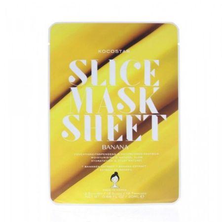 Kocostar Banán darabos arcmaszk (Slice Sheet Mask) 20 ml