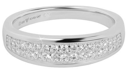 Silver Cat Piękny pierścionek z cyrkoniami SC269 (obwód 54 mm) srebro 925/1000