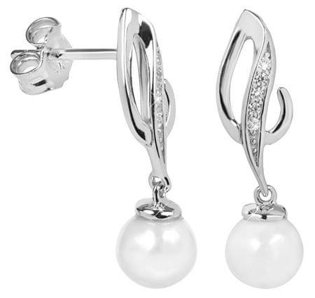 Silver Cat Elegancki Kolczyki z cyrkoniami i perłą SC284 srebro 925/1000