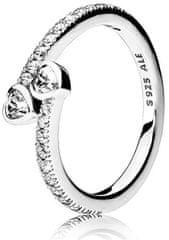 Pandora Strieborný trblietavý prsteň 191023CZ striebro 925/1000