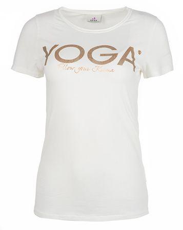 Deha Dámske tričko T-Shirt B84670 Snow (Veľkosť M)