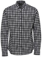 ONLY&SONS Pánska košeľa Gordey LS Checkandprint Shirt Black