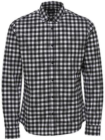 ONLY&SONS Férfi ingGordey LS Checkandprint Shirt Black (méret S)