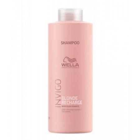 Wella Professional Invigo Blonde Recharge sampon szőke hajra(Color Refreshing Shampoo) (mennyiség 1000 ml)