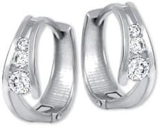 Brilio Zlaté náušnice kroužky s krystaly 239 001 00800 07 zlato bílé 585/1000