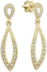 295c727b5 Brilio Dámské zlaté náušnice s čirými krystaly 239 001 00876 - 2,40 g zlato