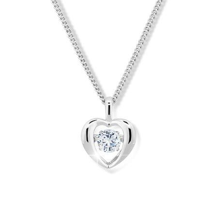 Modesi Romantyczny naszyjnik z kryształem M43065 srebro 925/1000
