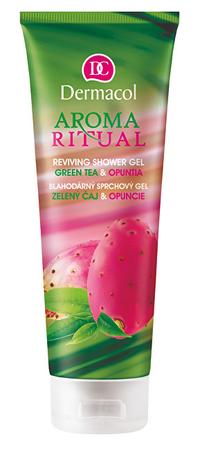 Dermacol Aroma Ritual jótékony hatású tusfürdő zöld tea és opuncia illattal (Reviving Shower Gel Green Tea &