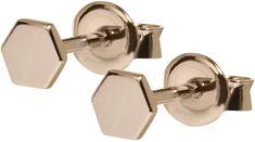 Cluse Hatszög rózsaszín aranyozott ezüst fülbevaló CLJ50006 ezüst 925/1000