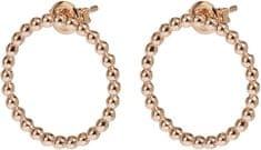 Cluse Rózsaszín aranyozott ezüst fülbevaló CLJ50007 ezüst 925/1000