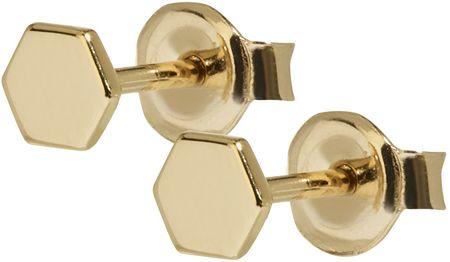 Cluse Hatszögletű aranyozott fülbevaló ezüstből CLJ51006 ezüst 925/1000