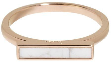 Cluse Srebrni bronasti prstan z marmorno ploščadjo CLJ40002 (Vezje 52 mm) srebro 925/1000